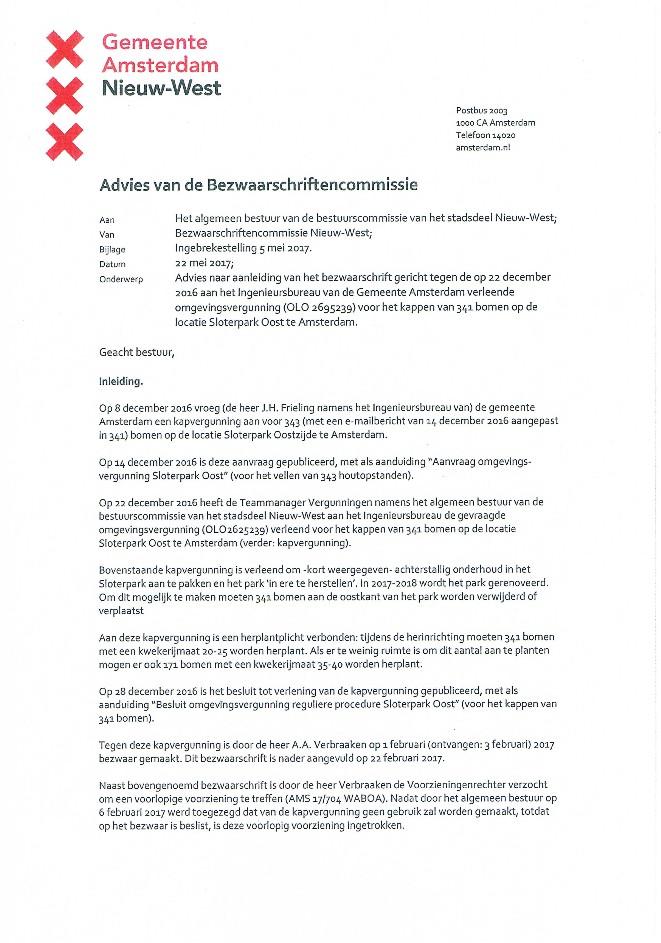 verslag hoorzitting bezwaarschriftencommissie
